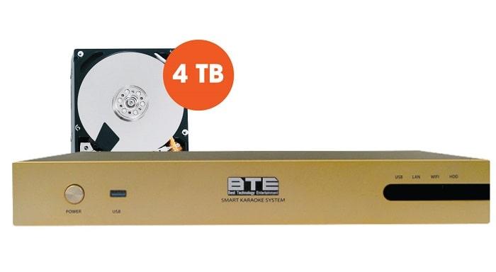 Đầu karaoke ổ cứng BTE luôn được nhiều người tin tưởng và lựa chọn
