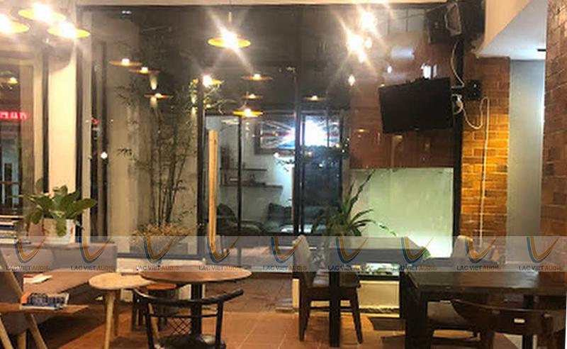Bộ loa cho quán cafe trong nhà rộng 100m2