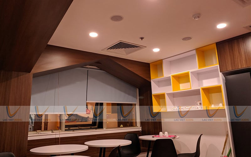 Loa vệ tinh cho quán cafe dạng âm trần, âm tường