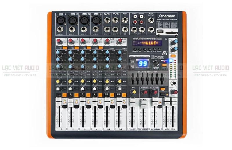 Bàn mixer liền công suất hay còn được gọi là mixer có công suất