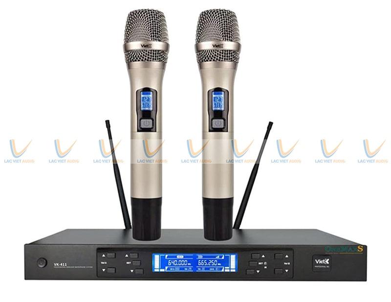 Bộ thiết bị thu âm thanh là micro không dây và có dây