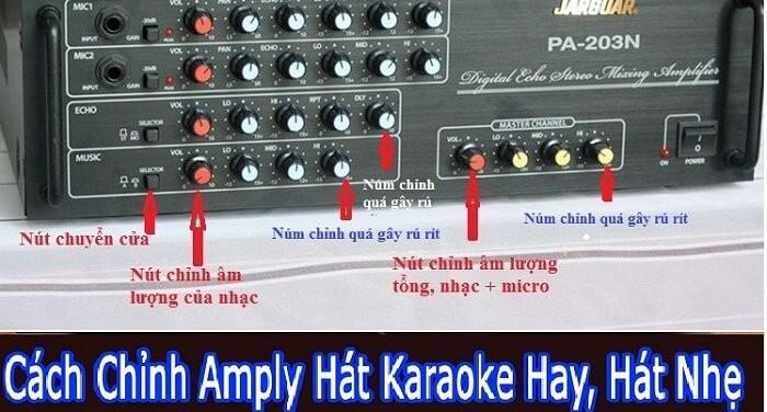 Cách điều chỉnh amply karaoke