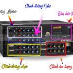 Các nút cơ bản trên amply và cách sử dụng