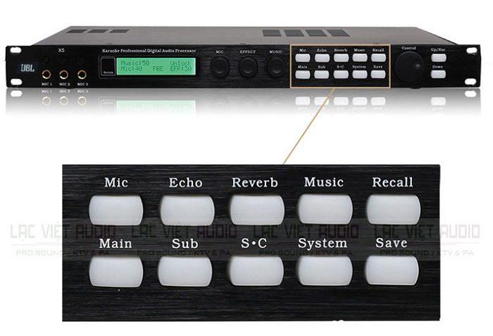 Các phím chức năng trên JBL X5