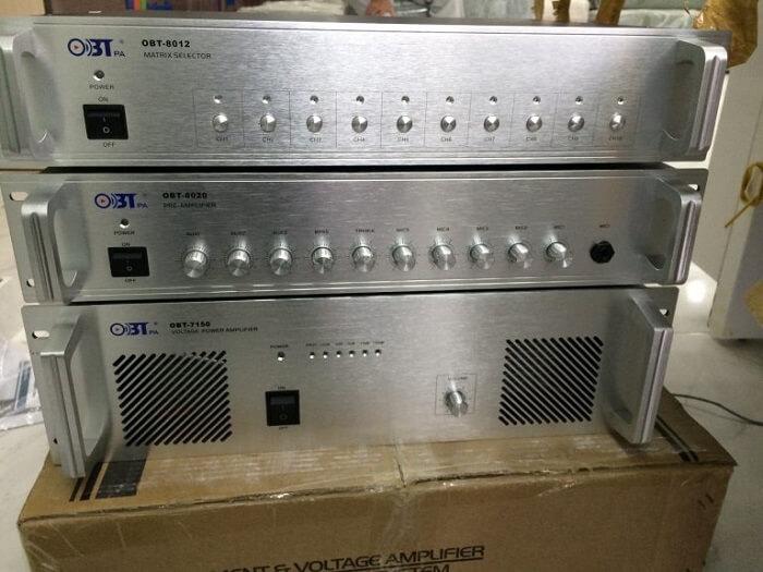 Chức năng của amply trong hệ thống âm thanh thông báo