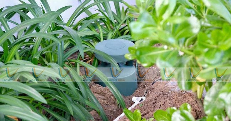 Chiếc loa tại sân vườn của các khu nghỉ dưỡng, biệt thự