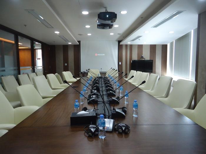 Hệ thống âm thanh phòng họp chuyên nghiệp được Lạc Việt Audio lắp đặt
