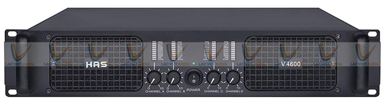 Cục đẩy công suất HAS V- 4600 thiết kế đơn giản, mang tính chuyên dụng cao