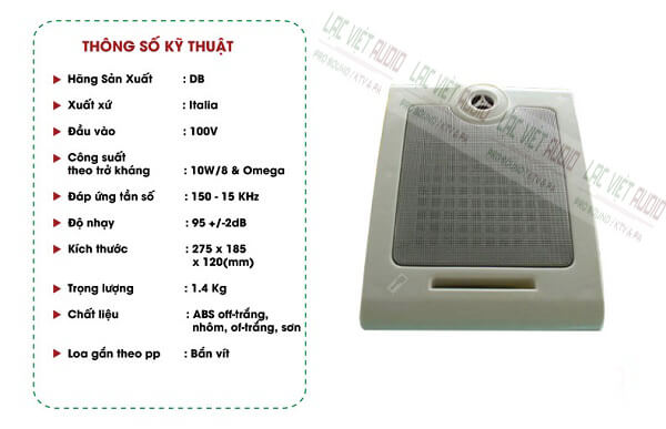 Đặc điểm loa hộp treo tường mini DB CS-501