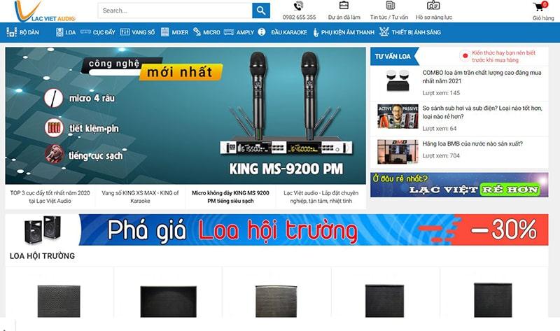 Lạc Việt Audio - Thiết bị âm thanh chất lượng hàng đầu Việt Nam