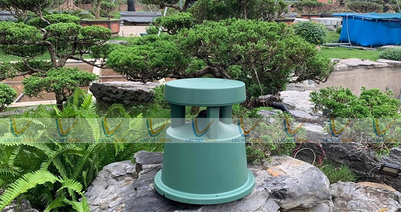 Loa bose 360 được sử dụng tại một sân vườn khu biệt thự