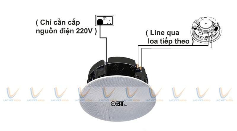 Lựa chọn loa âm trần OBT phù hợp với công suất