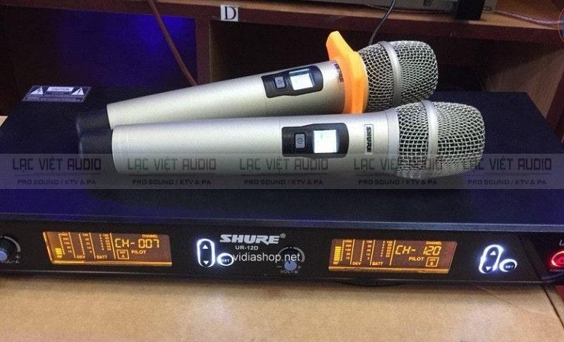 Micro hát karaoke không dây SHURE UR 12D chất lượng