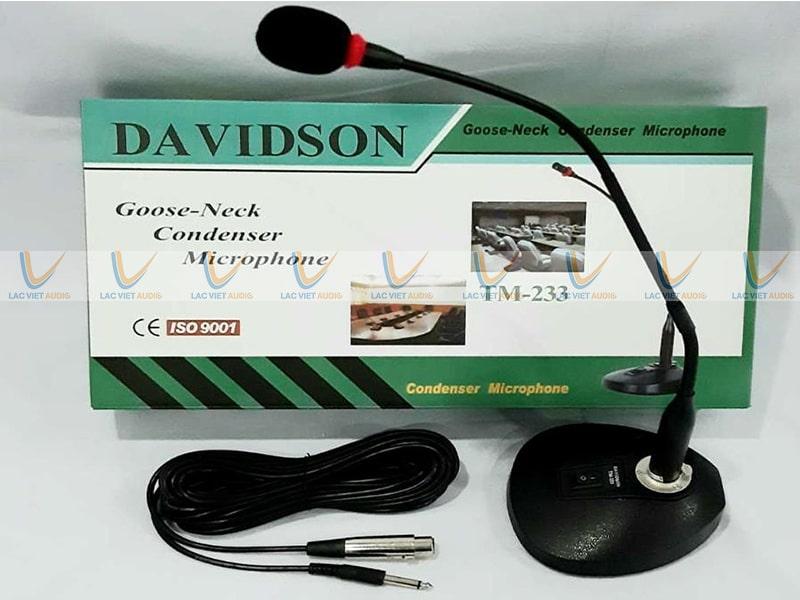 Micro cổ ngỗng Davidson TM 233 đã và đang được sử dụng rất nhiều hiện nay