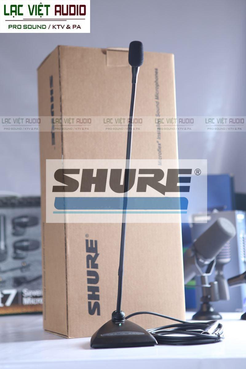 Micro cổ ngỗng Shure có được lòng tin của khách hành nhờ uy tín và chất lượng hoàn hảo