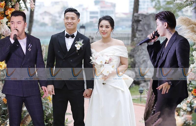Cách chỉnh dàn âm thanh đám cưới cho người hát không chuyên và chuyên nghiệp rất khác nhau
