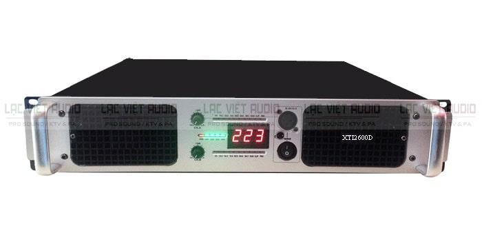 Cục đẩy công suất 2 kênh TCA XTI2600D thiết kế khỏe khoắn, hiện đại