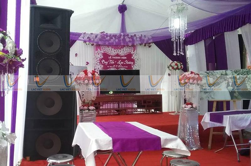 Thiếu loa trong dàn nhạc sống đám cưới sẽ như thiếu cô dâu trong lễ thành hôn