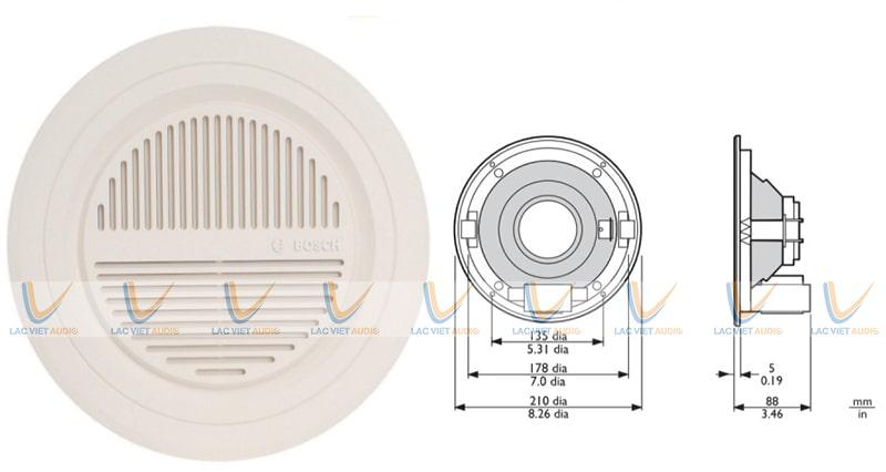 Từng chi tiết của Bosch LBC 3090/01 đều được thiết kế và sản xuất rất kỹ lượng