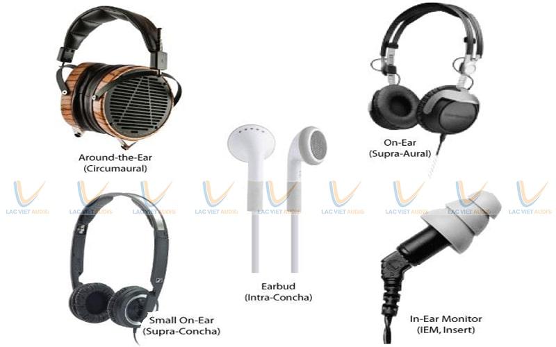 Các loại tai loa nghe nhạc thường được phân chia hãng, kích thước, cách sử dụng, thiết bị kết hợp,...