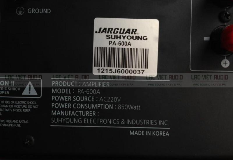 Amply Jarguar PA 600a chính hãng có tem chống giả cao cấp