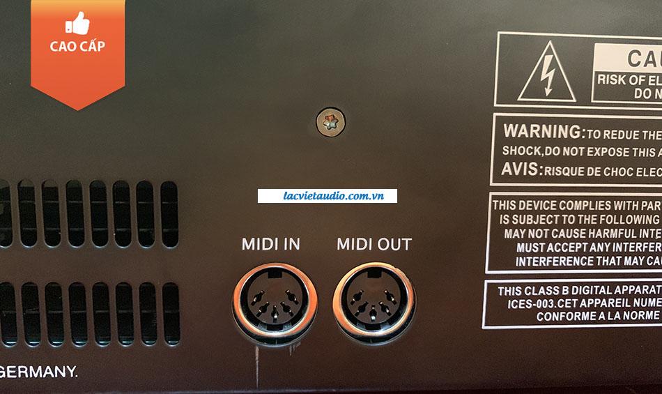 Cổng Midi In và Midi Out của sản phẩm