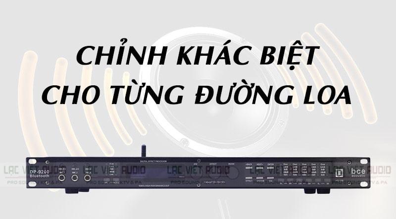 DP 9200 Bluetooth cho phép chỉnh độc lập từng đường loa
