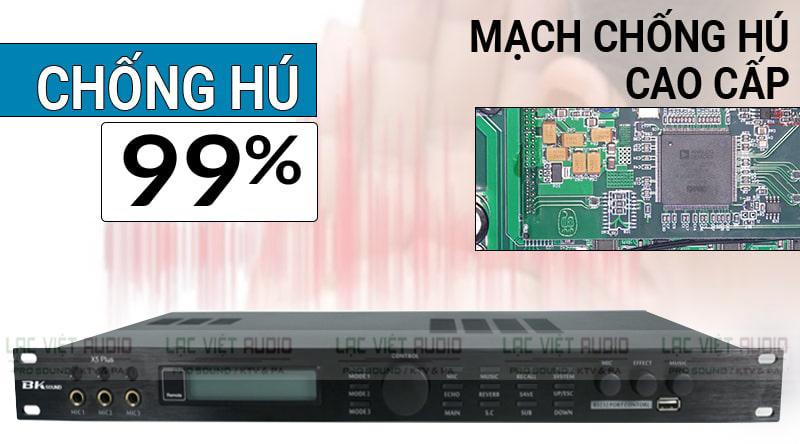 Vang số BK sound X5 Plus được trang bị mạch chống hú cao cấp lên đến 99%