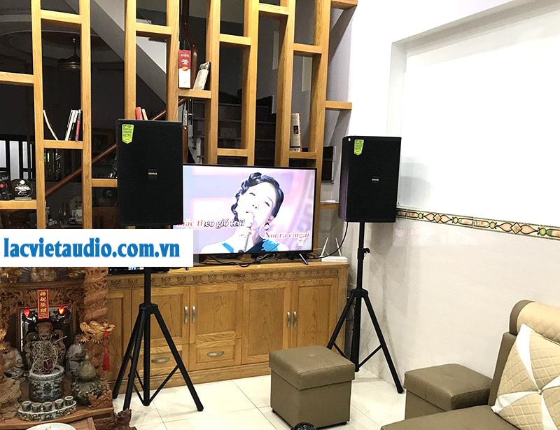Bố trí loa karaoke ở góc nhà