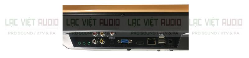 Đầu karaoke liền màn hình BTE S21650 nghiêng