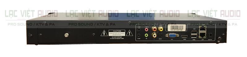 đầu Karaoke BTE S650 Pro mặt sau