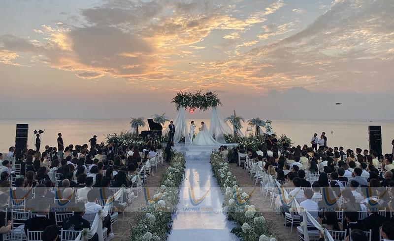 Một phần dàn array khủng được sử dụn tại đám cưới của Đông Nhi - Ông Cao thắng