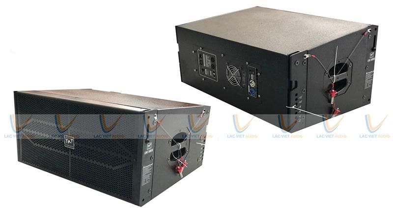 Các tín hiệu sẽ được đưa trực tiếp từ mixer ra loa array active chứ không cần qua hệ thống khuếch đại tín hiệu nữa