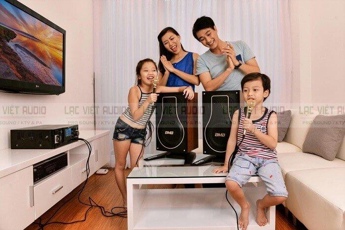 cách chọn amply phù hợp với loa theo không gian gia đình
