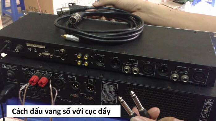 Cách đấu vang số với cục đẩy công suất bằng dây dẫn thông dụng nhất