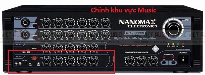 Hình ảnh chỉnh amply chuẩn Nanomax thuộc khu vực Music