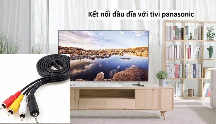 Cách kết nối đầu đĩa với tivi panasonic