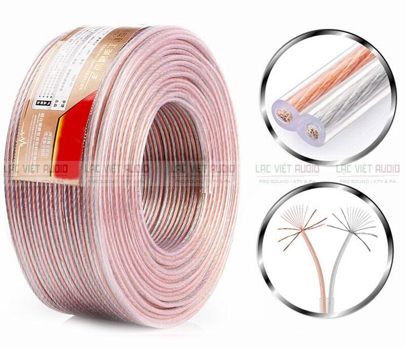 Cấu tạo dây loa âm trần gồm vỏ loa và lõi dây
