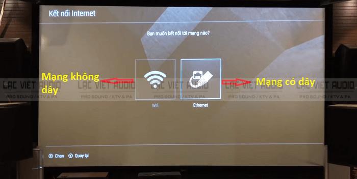 Mạng có dây và mạng không dây.