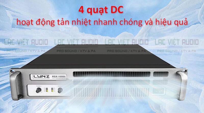 Cục đẩy công suất LYNZ RSX-10000 hệ thống tản nhiệt
