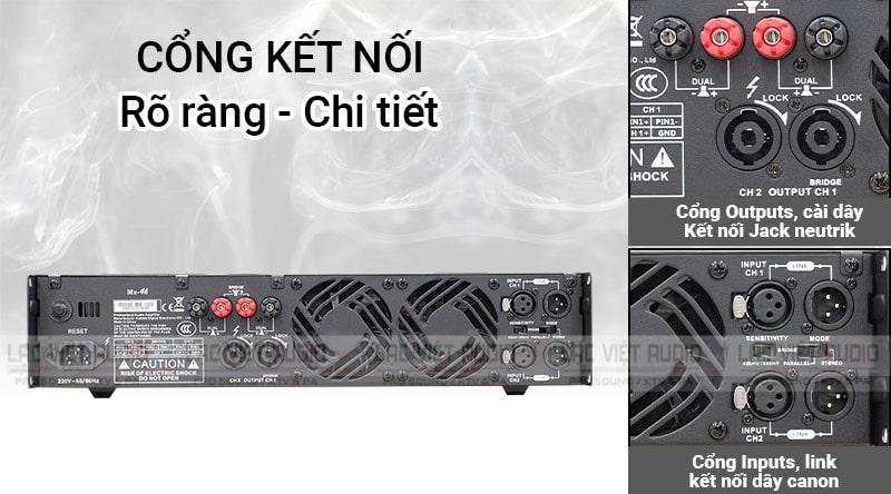 Mặt sau được thiết kế hệ thống tản nhiệt và các cổng kết nối đa dạng