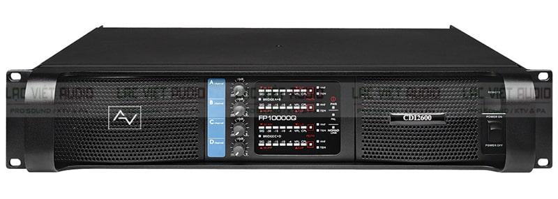 Cục đẩy công suất AV CDI2600 được dánh giá cao về thiết kế và chất lượng âm thanh