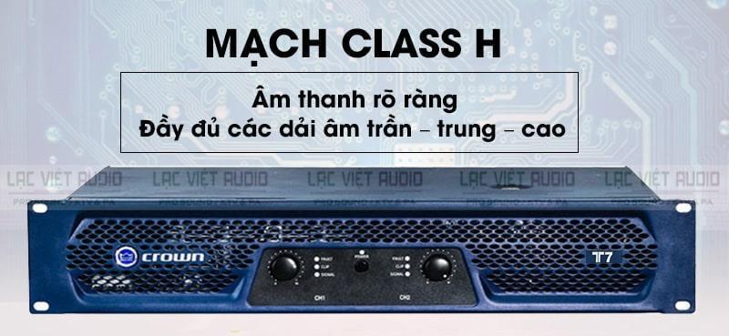 Các dải tần được thể hiện đầy đủ nhờ có mạch khuếch đại công suất Class H