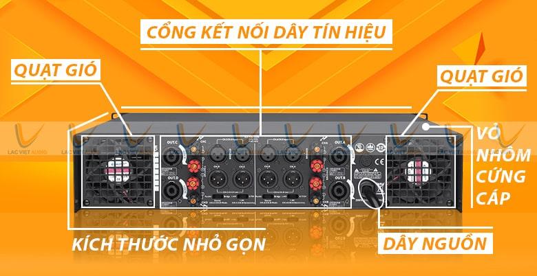 Dễ dàng kết nối với các thiết bị khác để tạo nên dàn âm thanh chuyên nghiệp