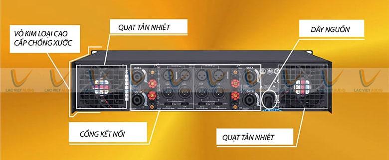 Thuận tiện kết nối với các thiết bị âm thanh khác nhờ các cổng kết nối