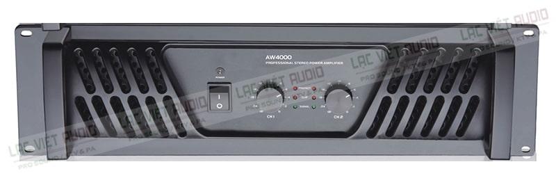 Cục đẩy công suất Soundking AW4000 thiết kế hiện đại, màu đen sang trọng