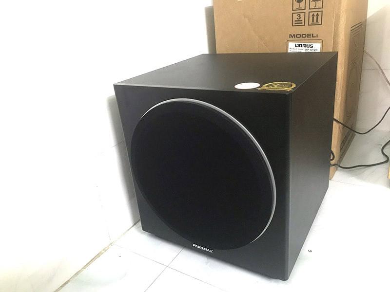 Loa Sub điện Paramax sub-1000 tiếng bass xuống 20Hz nên thích hợp cho dàn karaoke gia đình
