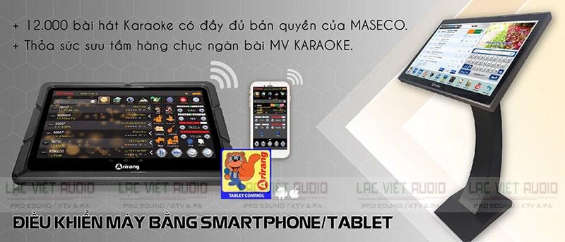 Đầu đĩa dvd Arirang có thể điều bẳng smartphone/tablet