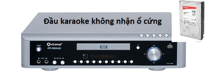 Đầu karaoke không nhận ổ cứng