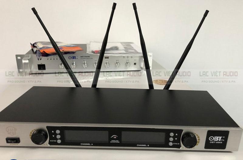 Đầu thu micro OBT 8668 4 ăng ten thu sóng khỏe khoắn